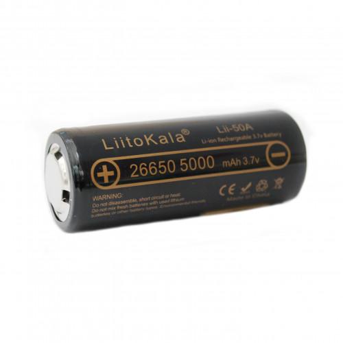 Аккумулятор LiitoKala Lii-50A-JT «26650», БЕЗ ЗАЩИТЫ 5000mah