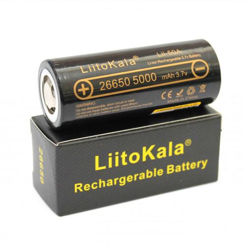 Аккумулятор LiitoKala Lii-50A  «26650», БЕЗ ЗАЩИТЫ  5000mah